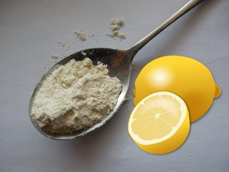 الليمون والبيكنج باودر