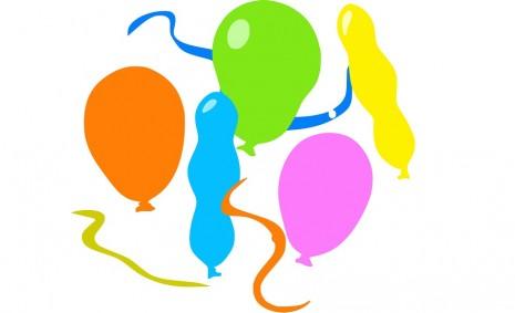 اشكال مختلفة من البالونات