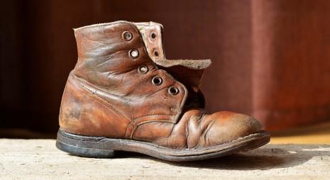 حذاء من الجلد